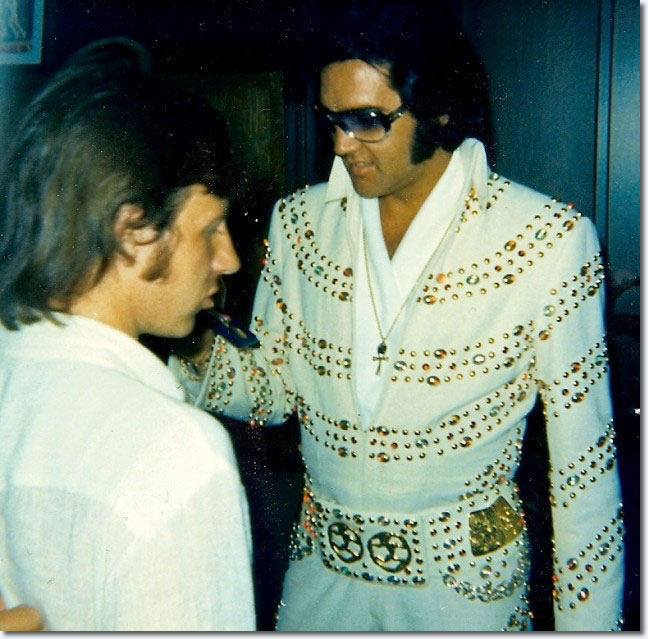 Elvis Presley before his matinee show at the Nassau Coliseum, Uniondale (Long Island, NY) on June 24, 1973