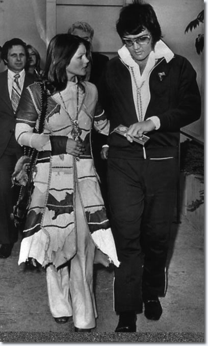 Elvis & Priscilla Divorce Court Appearance - October 9, 1973