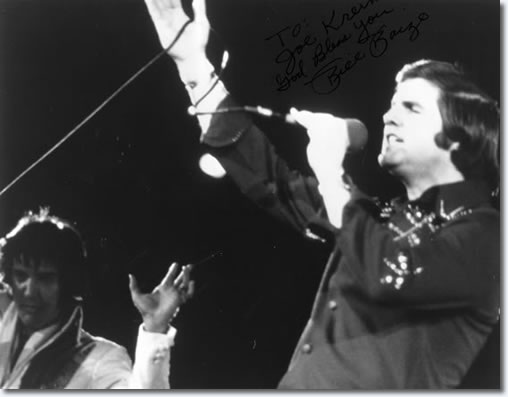 Elvis Presley and Bill Baize : Saturday, September 28, 1974, College Park, MD. Bill Baize is singing When It's My Time.