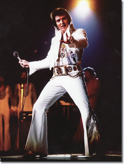 Elvis Presley : Mid-South Coliseum : Memphis Tennessee : June 10, 1975.