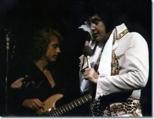 Jerry Scheff and Elvis Presley June 26, 1977 - 8.30pm Market Square Arena, Indianapolis, In.