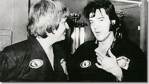 Elvis Presley with Ed Parker in Memphis on July 4, 1974
