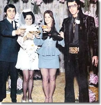 George Klein marries Barbara Little in Elvis' International Hotel Suite.