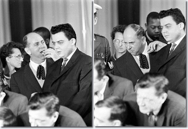 Colonel Parker and Lamar Fike : Elvis Presley Press Conference, Fort Dix, March 3, 1960.