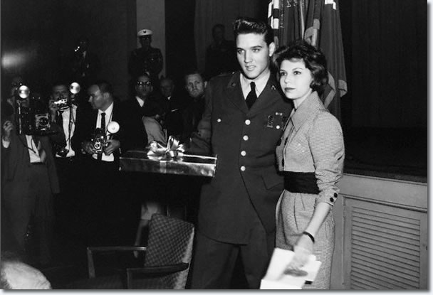 Elvis Presley and Nancy Sinatra, Fort Dix, March 3, 1960.
