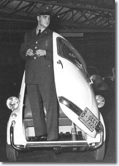 Elvis Presley with the BMW Isetta
