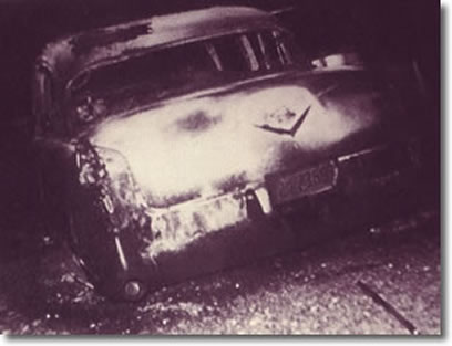 Elvis Presley's Burnt out Cadillac