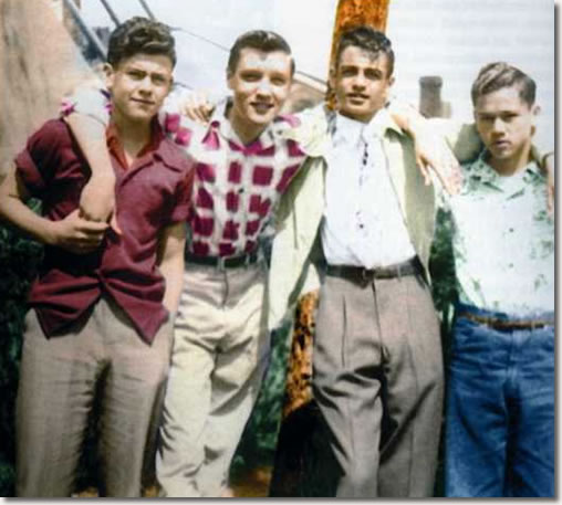 A Teenage Elvis Presley with Friends