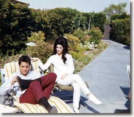 Elvis and Priscilla - The day after their Wedding 1967