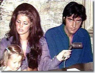 Elvis and Priscilla New Years Eve 1970
