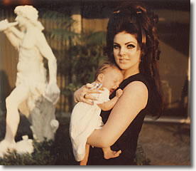 Priscilla, with Lisa Marie, 6 Months and 25 days