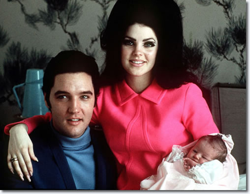 "Lisa Marie Presley was born on February 1, 1968, to Elvis Presley, the king of rock 'n' roll, and his wife Priscilla. Here the new family posed for a photograph in a room at Baptist Hospital in Memphis, Tenn. Today marks 30 years since Lisa Marie's father passed away at Graceland, the family's Memphis fortress. Lisa Marie inherited her father's eyes, lips and fame and she was a celebrity from the moment she was born. Priscilla once said Elvis looked ""petrified"" the first time he held his daughter, but it didn't take long for him to spoil his new little bundle of joy."