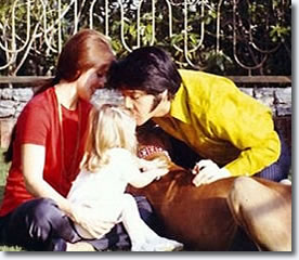 Elvis with wife Priscilla and daughter Lisa Marie