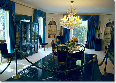 Dining room ... located immediately on the left as you enter Graceland mansion / Scott Jenkins