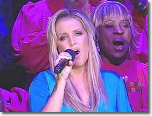 Lisa Marie Presley performed her duet of 'In The Ghetto' live on the Oprah Winfrey show