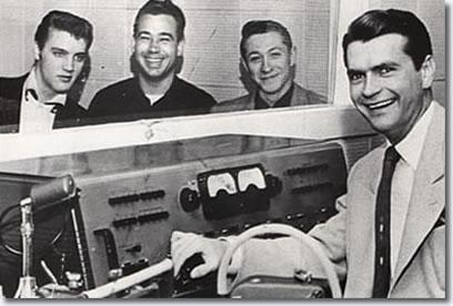 Elvis Presley, Bill Black, Scotty Moore & Sam Phillip's at Sun