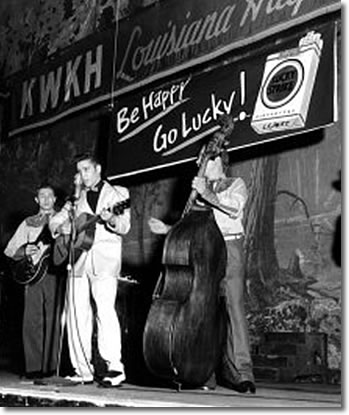Scotty, Elvis, Bill on the Louisiana Hayride Oct. 16, 1954