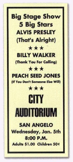Alvis Presley January 5 1955