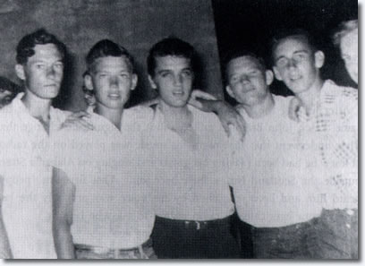 Elvis Presley and friends, backstage - Clarksdale, MS. City Auditorium - September 8, 1955