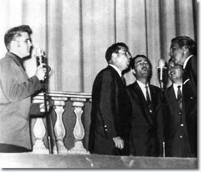 Elvis Presley and the The Statesmen Quartet - Ellis Auditorium, Memphis - July 27, 1956