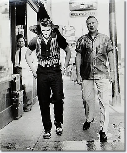 Elvis Presley And Red West At Elvis 1034 Audubon Drive