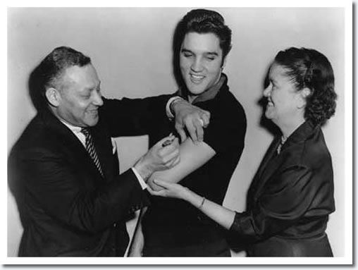 Elvis Presley Gets His Polio Shot October 28 1956