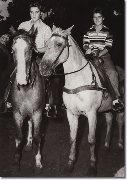 June Juanico & Elvis Presley Gulf Hills Dude Ranch 1956