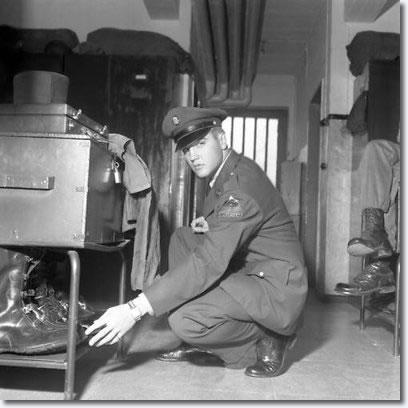 Elvis Presley at Ray Barracks, Oct 2-3. 1958.