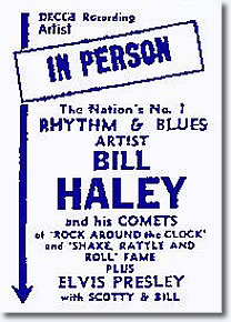 In Person - Bill Haley  ... Plus Elvis, Scotty & Bill