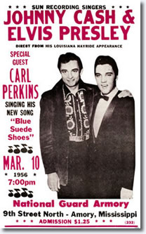 Johnny Cash / Elvis Presley Poster