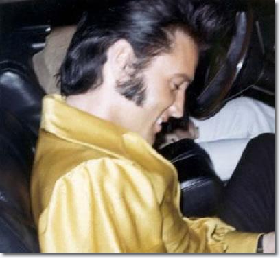 Elvis Presley Driveway Of His Hillcrest Home Leaving