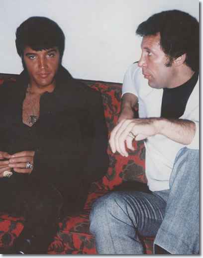 Elvis Presley and Tom Jones : The Flamingo Hotel : August 10, 1969.