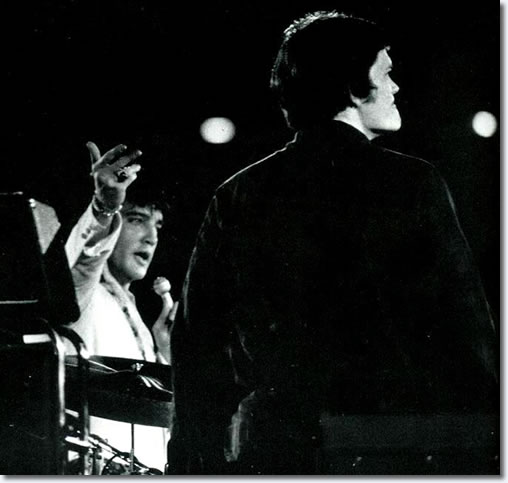 Elvis introducing drummer Bob Lanning at the Astrodome, Houston, February 1970