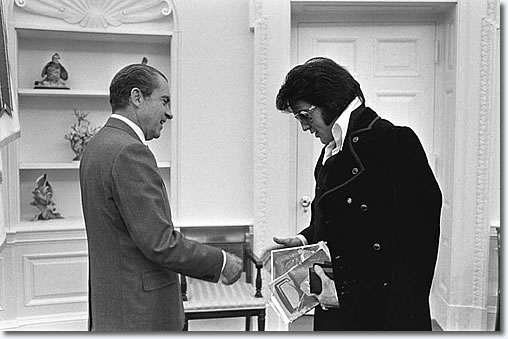 Elvis Presley and President Nixon at the White House