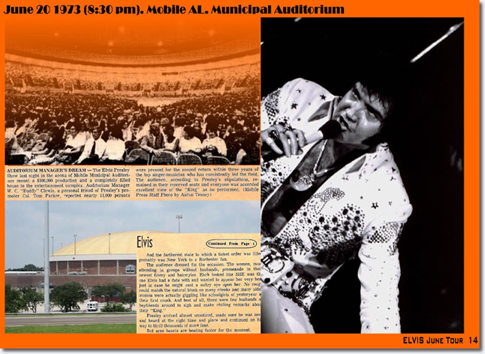 Elvis Presley Municipal Auditorium Mobile Al June 20