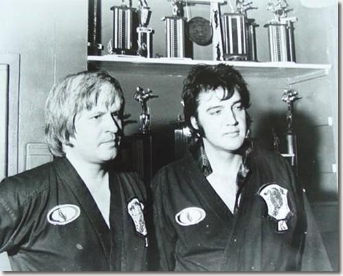 Elvis Presley Giving A Karate Demonstration In Memphis