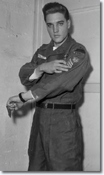 February 11, Elvis gets his full Sergeant stripes and throws a party to celebrate.