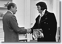 December 21, Elvis' famous visit with President Richard Nixon at the White House occurs.