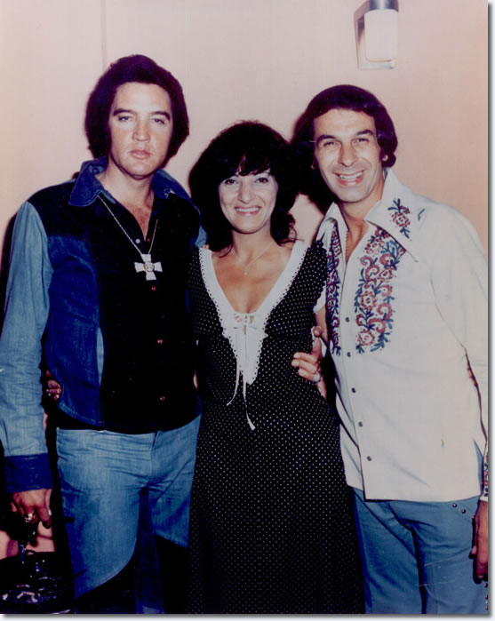 Elvis Presley with Jeanette and Freddy Cannon in Las Vegas - August 20, 1974