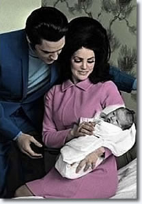 Elvis, Priscilla and Lisa Marie Presley