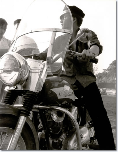 Elvis with his Harley-Davidson