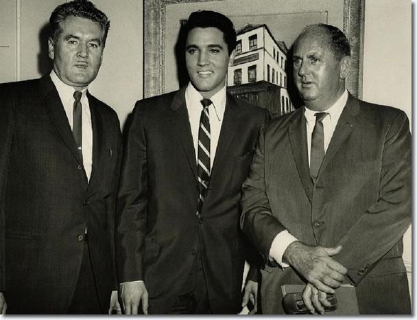 Vernon Presley, Elvis Presley and Colonel Tom Parker