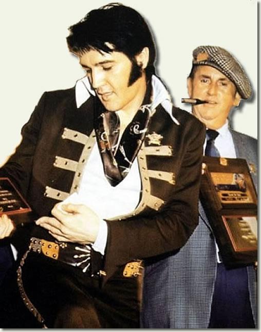 Elvis Presley and Colonel Tom Parker - Houston 1970